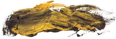 Svart och guld- slagl?ngd f?r borste f?r oljatexturm?larf?rg vektor illustrationer