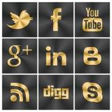 Svart och guld- symbolssamkvämuppsättning Arkivfoton