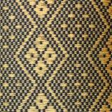 Svart och guld- thailändsk stilkuddetextur Royaltyfri Fotografi