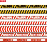 Svart och guling och reg-varningslinjer vektor illustrationer