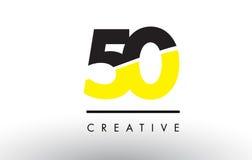 50 svart och gulingnummer Logo Design Arkivbilder