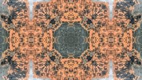 Svart och orange randig grungeabstrakt begreppdesign royaltyfri illustrationer