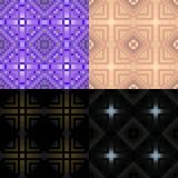 Svart och purpurfärgad geometrisk monokrom sömlös modell Vektor mig Fotografering för Bildbyråer