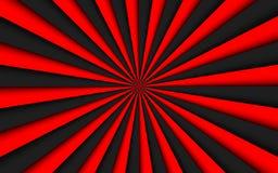 Svart och röd abstrakt bakgrund, svart och röda linjer, ljus modell arkivfoto