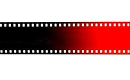 Svart och röd filmremsa på vit bakgrund Fotografering för Bildbyråer