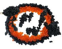 Svart och röd kaviarblandning royaltyfri bild