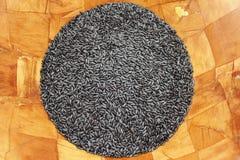 svart organisk purpur rice Royaltyfri Bild