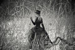 svart oskuld Fotografering för Bildbyråer