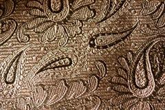 Svart Paisley silkebakgrund Royaltyfri Fotografi