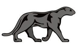 svart panter Arkivbild