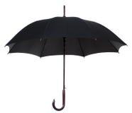 Svart paraply Fotografering för Bildbyråer
