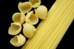 svart pasta för bakgrund Arkivfoto