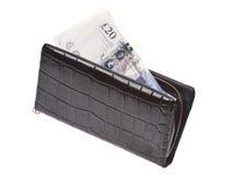 svart pengarplånbok Arkivfoto