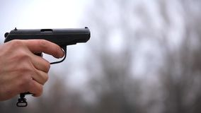 Svart pistol lager videofilmer