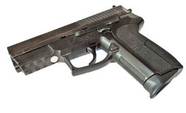 svart pistol Arkivbild