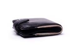 Svart plånbok Royaltyfria Foton