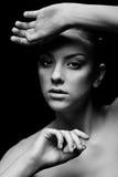 svart posera för flicka Royaltyfria Bilder