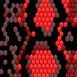 Svart röd modell för ormhud i modern stil Textur för ormhud För bakgrundsorm för vektor dekorativ hud, pytonorm royaltyfri illustrationer
