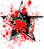 svart röd skallestjärna Royaltyfria Foton