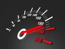 svart röd speedometer för pil Fotografering för Bildbyråer