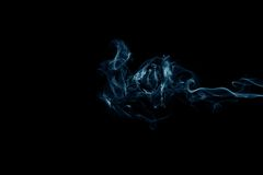 svart rök för bakgrund Royaltyfria Foton