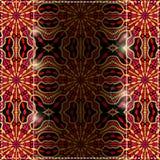 Svart rött gult kort med Astract den färgrika ljusa bakgrunden Royaltyfria Foton