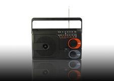 svart radio Arkivfoto