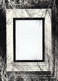svart ram Arkivbilder