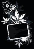 svart ramvetor Royaltyfri Foto