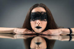 Svart reflexion Royaltyfria Bilder