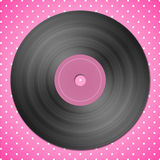 svart registrerad vinyl Stock Illustrationer