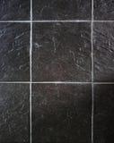 Svart rektangelstentegelplatta Royaltyfria Bilder