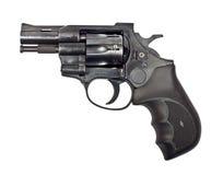 svart revolver arkivfoto