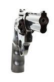 Svart revolver på den vita bakgrunden Royaltyfria Foton
