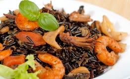 svart rice Royaltyfria Bilder