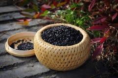 svart rice Arkivfoto