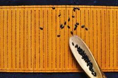 svart rice Arkivfoton