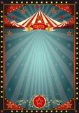 Svart rolig cirkus royaltyfri illustrationer