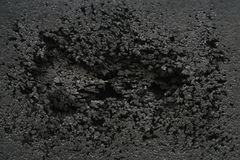 Svart rubber skadat Royaltyfria Bilder