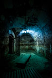 Svart rum i fort 13, Rumänien Arkivfoto