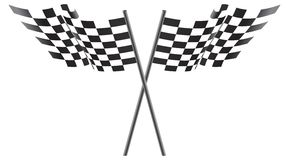 svart rutig flaggaillustrationwhite Royaltyfri Fotografi