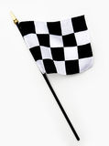 svart rutig fullföljandeflaggalinje wavy white Arkivfoton