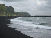svart sand Fotografering för Bildbyråer