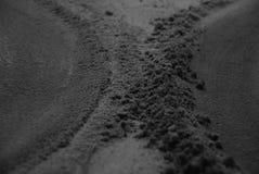 svart sand Royaltyfri Foto