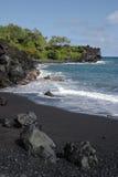 svart sand för strand Royaltyfria Bilder