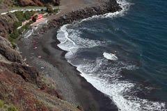 svart sand tenerife för strand Fotografering för Bildbyråer