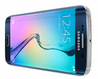 Svart Sapphire Samsung Galaxy S6 kant Arkivbilder