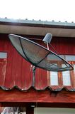 svart satellit Royaltyfria Foton