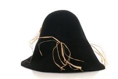 svart scarecrow för filthatt något sugrör Royaltyfri Foto