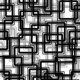svart seamless modellrektangel royaltyfri illustrationer